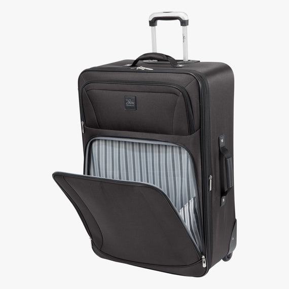 2-Wheel Large Check-In Epic 2-wheel 28-inch Check-in Suitcase in Black Open Detail View in  in Color:Black in  in Description:Open Detail