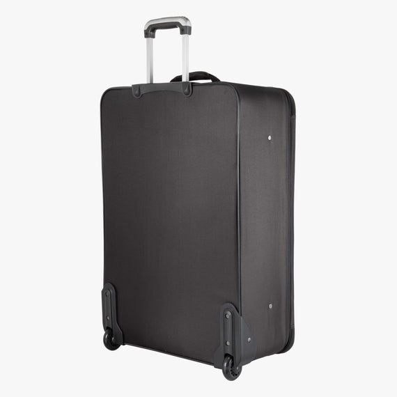 2-Wheel Large Check-In Epic 2-wheel 28-inch Check-in Suitcase in Black Back Angle View in  in Color:Black in  in Description:Back Angle