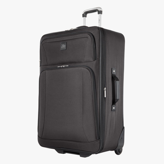 2-Wheel Large Check-In Epic 2-wheel 28-inch Check-in Suitcase in Black Angled View in  in Color:Black in  in Description:Angled View