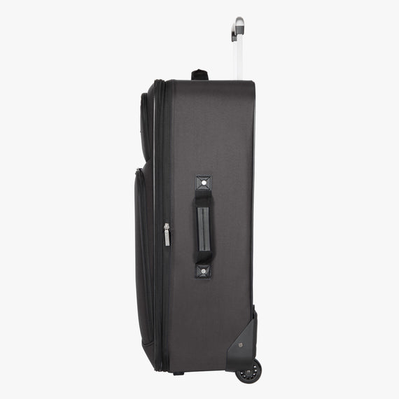 2-Wheel Large Check-In Epic 2-wheel 28-inch Check-in Suitcase in Black Side View in  in Color:Black in  in Description:Side