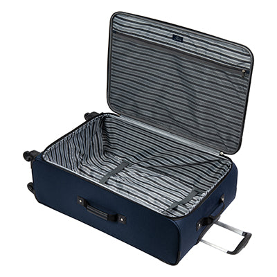 Large Check-In Epic 28-inch Check-In Suitcase in Blue Open View in  in Color:Surf Blue in  in Description:Opened