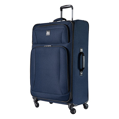 Large Check-In Epic 28-inch Check-In Suitcase in Blue Angled View in  in Color:Surf Blue in  in Description:Angled View