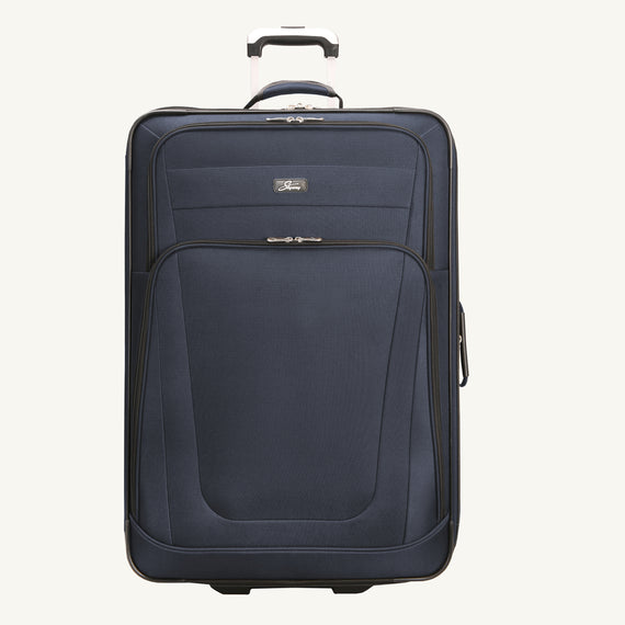 2-Wheel Large Check-In Epic 2-wheel 28-inch Check-in Suitcase in Blue Front View in  in Color:Surf Blue in  in Description:Front