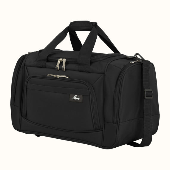 Weekender Travel Duffel Skyway Luggage 22-inch Duffel in Black in  in Color:Black in  in Description:Angled View