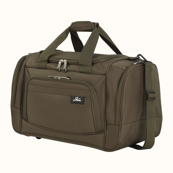 Weekender Travel Duffel Skyway Luggage 22-inch Duffel in Forest Green in  in Color:Forest Green in  in Description:Angled View