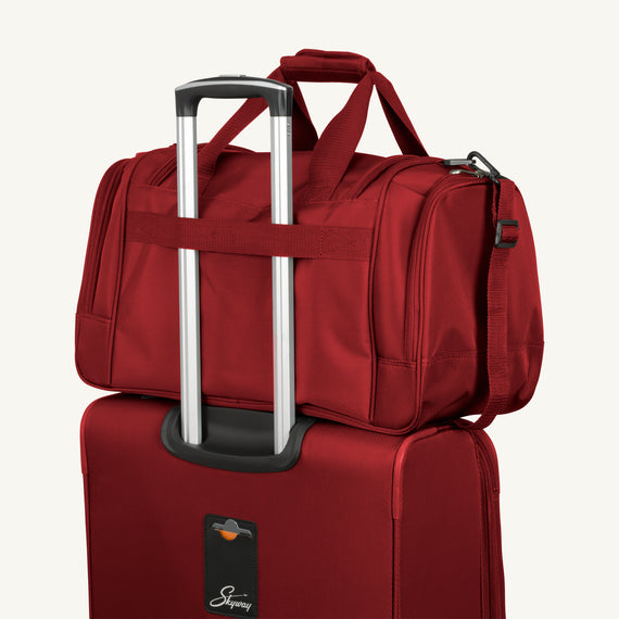 Weekender Travel Duffel Skyway Luggage 22-inch Duffel in Merlot Red in  in Color:Merlot Red in  in Description:Backstrap