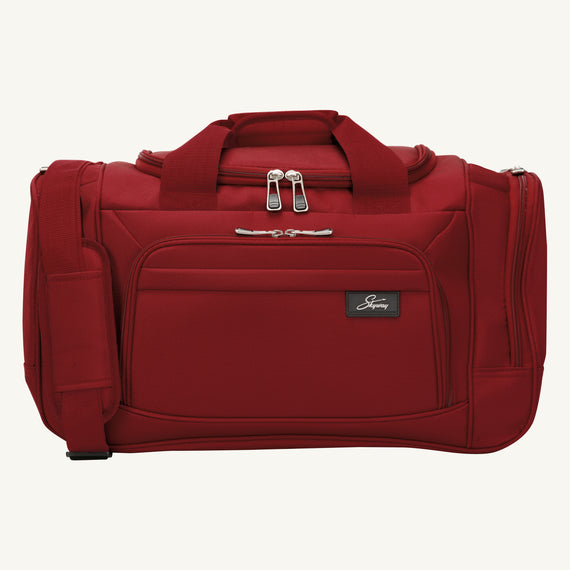 Weekender Travel Duffel Skyway Luggage 22-inch Duffel in Merlot Red in  in Color:Merlot Red in  in Description:Front