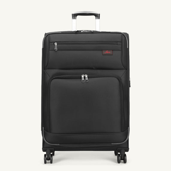 Medium Check-In Skyway Luggage 25-inch Spinner Luggage in Black in  in Color:Black in  in Description:Front