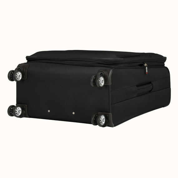 Medium Check-In Skyway Luggage 25-inch Spinner Luggage in Black in  in Color:Black in  in Description:Bottom