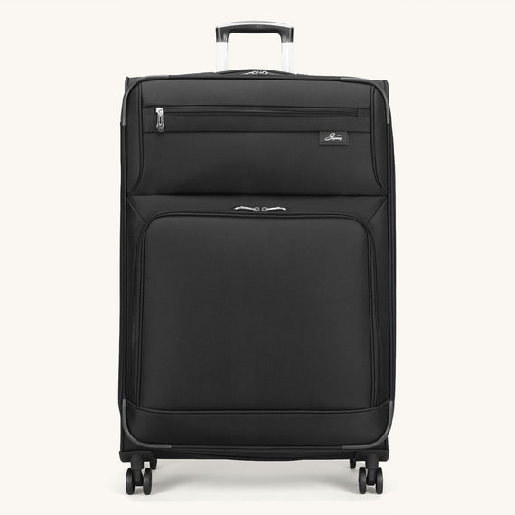Large Check-In Skyway Luggage 29-inch Spinner Luggage in Black in  in Color:Black in  in Description:Front
