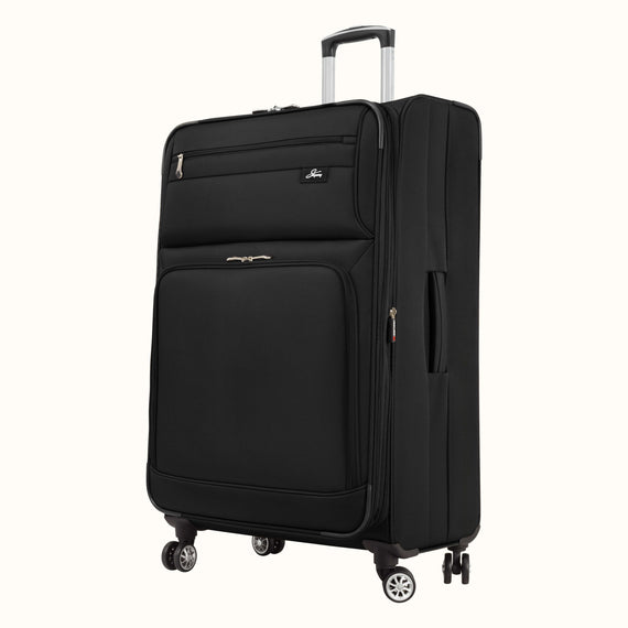 Large Check-In Skyway Luggage 29-inch Spinner Luggage in Black in  in Color:Black in  in Description:Angled View