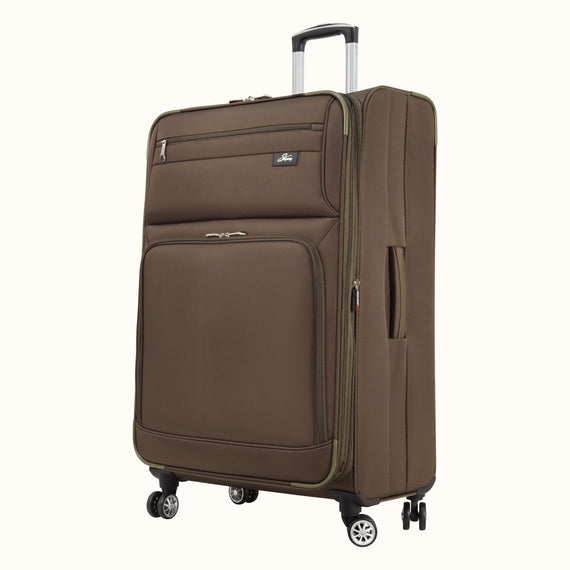 Large Check-In Skyway Luggage 29-inch Spinner Luggage in Forest Green in  in Color:Forest Green in  in Description:Angled View