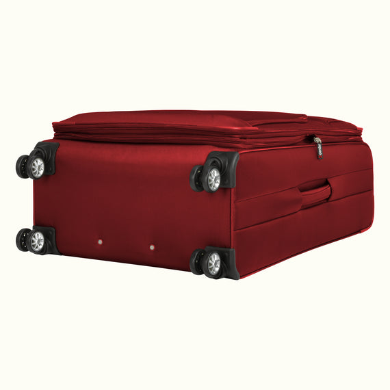 Large Check-In Skyway Luggage 29-inch Spinner Luggage in Merlot Red in  in Color:Merlot Red in  in Description:Bottom