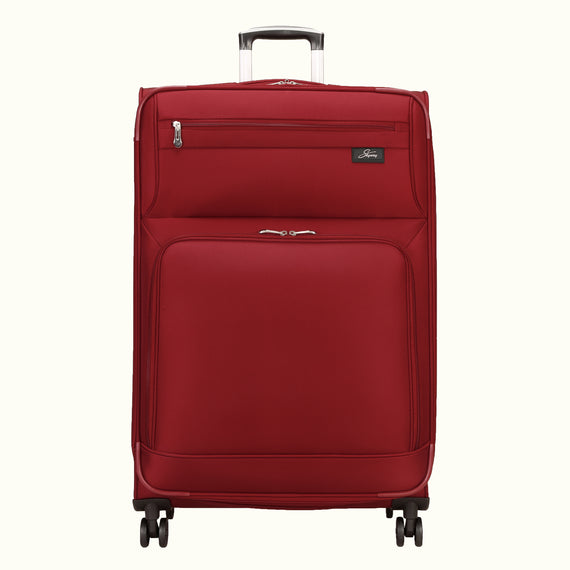 Large Check-In Skyway Luggage 29-inch Spinner Luggage in Merlot Red in  in Color:Merlot Red in  in Description:Front
