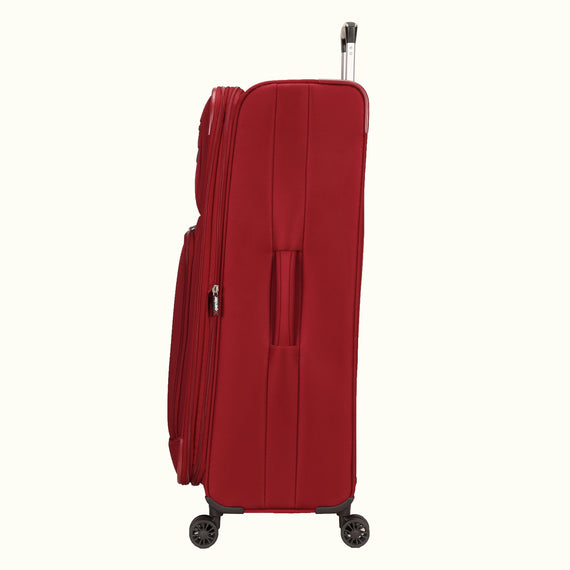 Large Check-In Skyway Luggage 29-inch Spinner Luggage in Merlot Red in  in Color:Merlot Red in  in Description:Side
