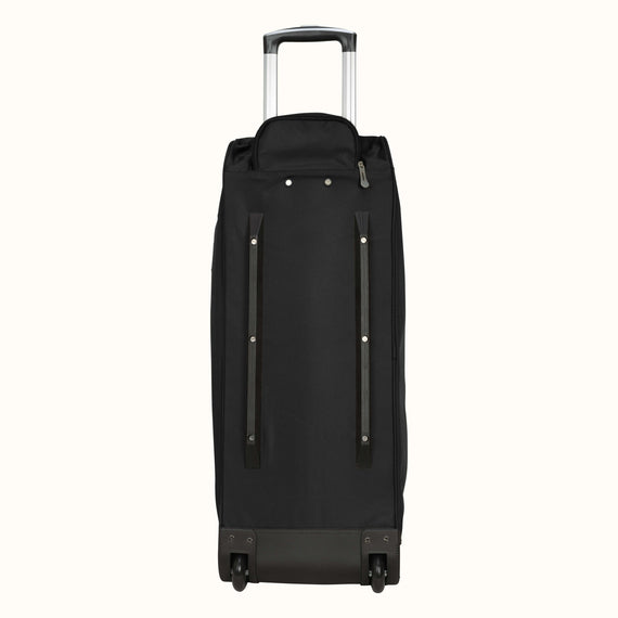 Large Rolling Duffel Skyway Luggage 30-inch Rolling Duffel in Black in  in Color:Black in  in Description:Bottom Angle