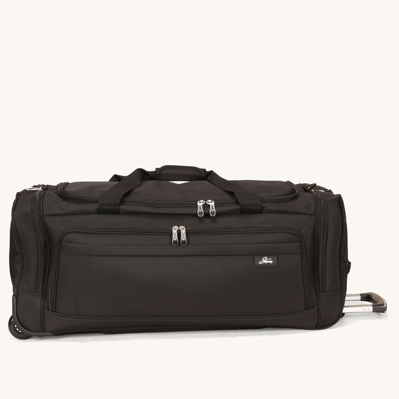 Large Rolling Duffel Skyway Luggage 30-inch Rolling Duffel in Black in  in Color:Black in  in Description:Front