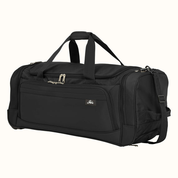 Large Rolling Duffel Skyway Luggage 30-inch Rolling Duffel in Black in  in Color:Black in  in Description:Angled View