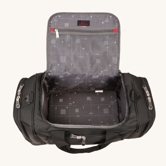Duffel Skyway Luggage 22-inch Duffel in Black in  in Color:Black in  in Description:Opened