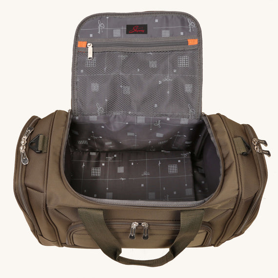 Duffel Skyway Luggage 22-inch Duffel in Forest Green in  in Color:Forest Green in  in Description:Opened