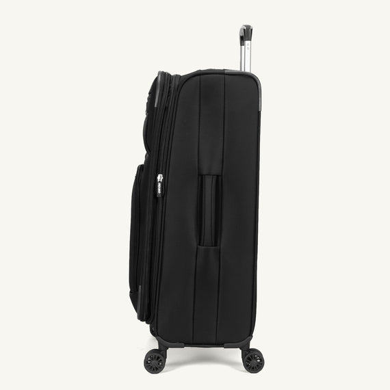 Medium Check-In Skyway Luggage 25-inch Spinner Luggage in Black in  in Color:Black in  in Description:Side