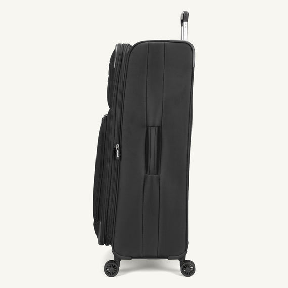 Large Check-In Skyway Luggage 29-inch Spinner Luggage in Black in  in Color:Black in  in Description:Side