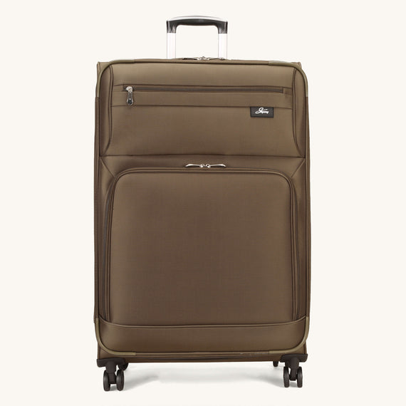 Large Check-In Skyway Luggage 29-inch Spinner Luggage in Forest Green in  in Color:Forest Green in  in Description:Front