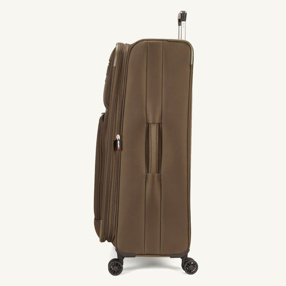 Large Check-In Skyway Luggage 29-inch Spinner Luggage in Forest Green in  in Color:Forest Green in  in Description:Side