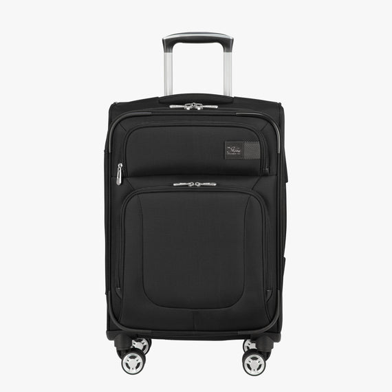 Carry-On Sigma 6 Carry-On in Black Front View in  in Color:Black in  in Description:Front