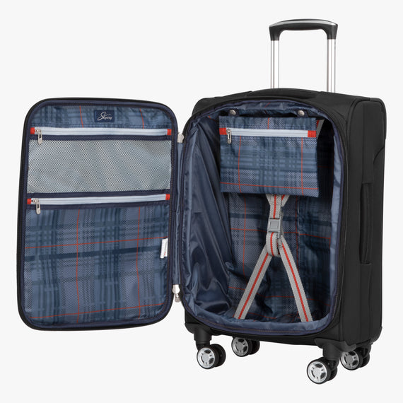 Carry-On Sigma 6 Carry-On in Black Opened View in  in Color:Black in  in Description:Opened