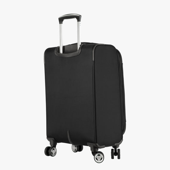 Carry-On Sigma 6 Carry-On in Black Back Angle View in  in Color:Black in  in Description:Back Angle