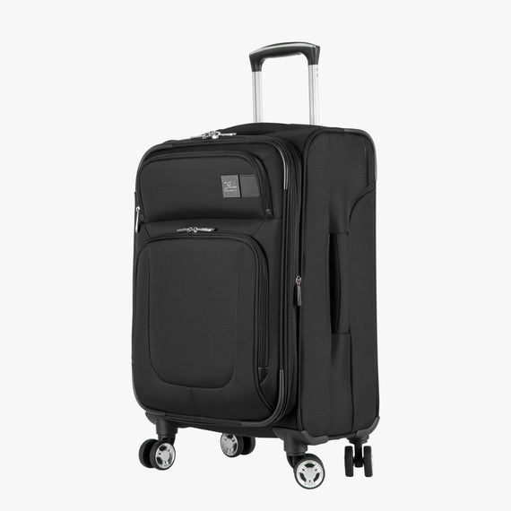 Carry-On Sigma 6 Carry-On in Black Angled View in  in Color:Black in  in Description:Angled View