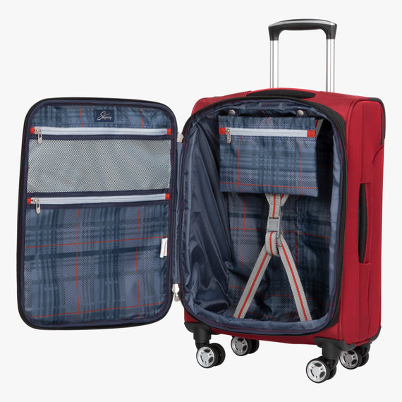 Carry-On Sigma 6 Carry-On in True Red Opened View in  in Color:True Red in  in Description:Opened