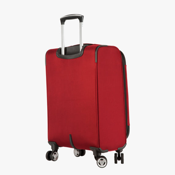 Carry-On Sigma 6 Carry-On in True Red Back Angle View in  in Color:True Red in  in Description:Back Angle