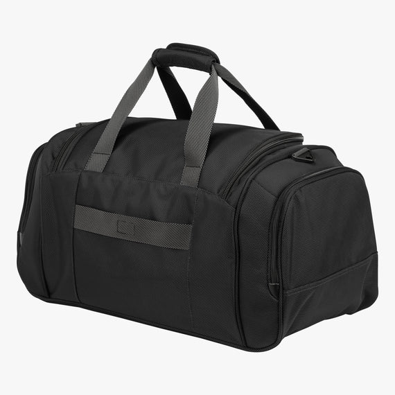Weekender Travel Duffel Sigma 6 Weekender Travel Duffel in Black Back Angled View in  in Color:Black in  in Description:Back Angle