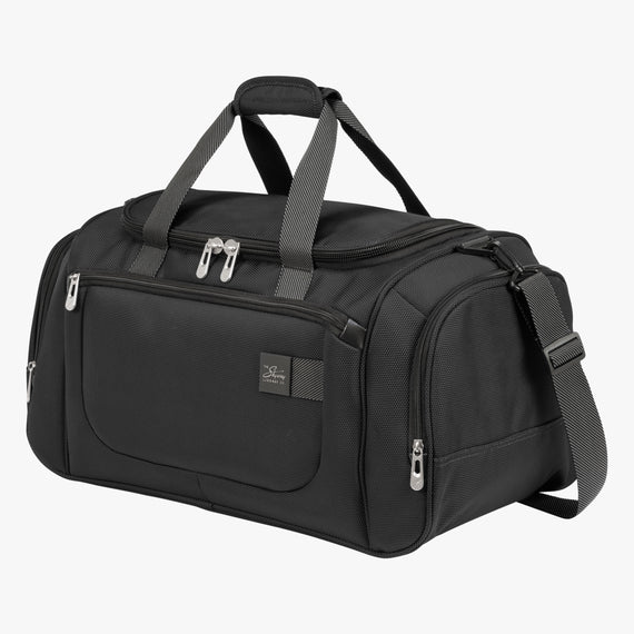 Weekender Travel Duffel Sigma 6 Weekender Travel Duffel in Black Angled View in  in Color:Black in  in Description:Angled View