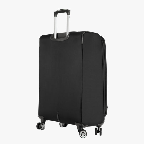 Medium Check-In Sigma 6.0 25-inch Medium Check-In in Black Back Angle View in  in Color:Black in  in Description:Back Angle