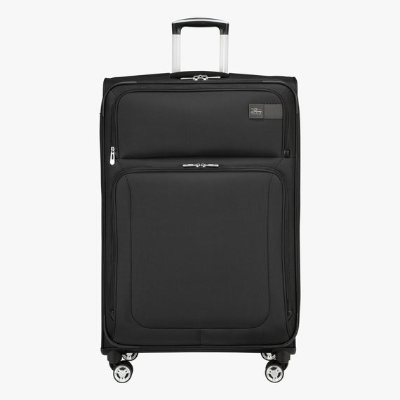 Large Check-In Sigma 6.0 28-inch Check-In Suitcase in Black Front View in  in Color:Black in  in Description:Front