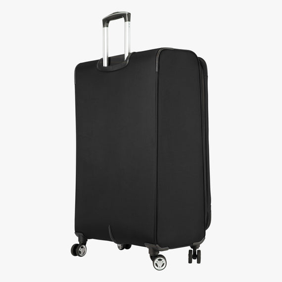 Large Check-In Sigma 6.0 28-inch Check-In Suitcase in Black Quarter Back View in  in Color:Black in  in Description:Back Angle