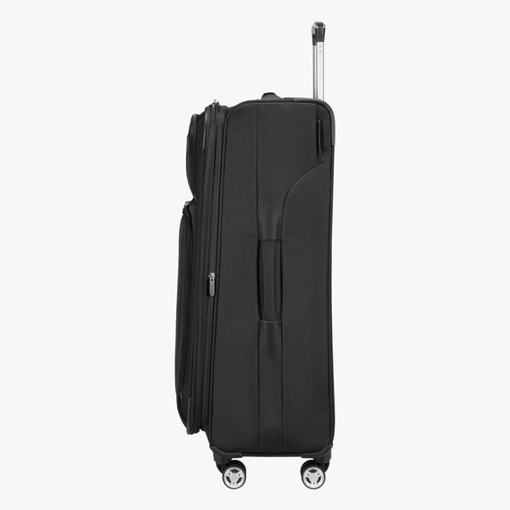 Large Check-In Sigma 6.0 28-inch Check-In Suitcase in Black Side View in  in Color:Black in  in Description:Side