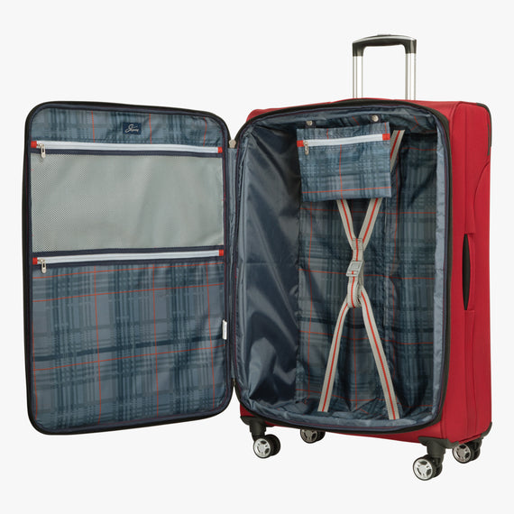 Large Check-In Sigma 6.0 28-inch Check-In Suitcase in True Red Open View in  in Color:True Red in  in Description:Opened