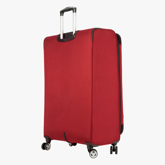 Large Check-In Sigma 6.0 28-inch Check-In Suitcase in True Red Quarter Back View in  in Color:True Red in  in Description:Back Angle