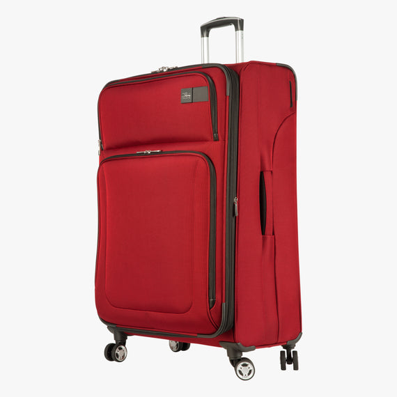 Large Check-In Sigma 6.0 28-inch Check-In Suitcase in True Red Front View in  in Color:True Red in  in Description:Angled View