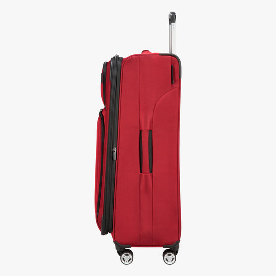 Large Check-In Sigma 6.0 28-inch Check-In Suitcase in True Red Side View in  in Color:True Red in  in Description:Side