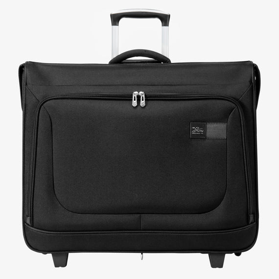 Rolling Garment Bag Sigma 6 Rolling Garment Bag in Black Front View in  in Color:Black in  in Description:Front