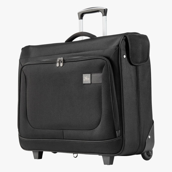 Rolling Garment Bag Sigma 6 Rolling Garment Bag in Black Angled View in  in Color:Black in  in Description:Angled View