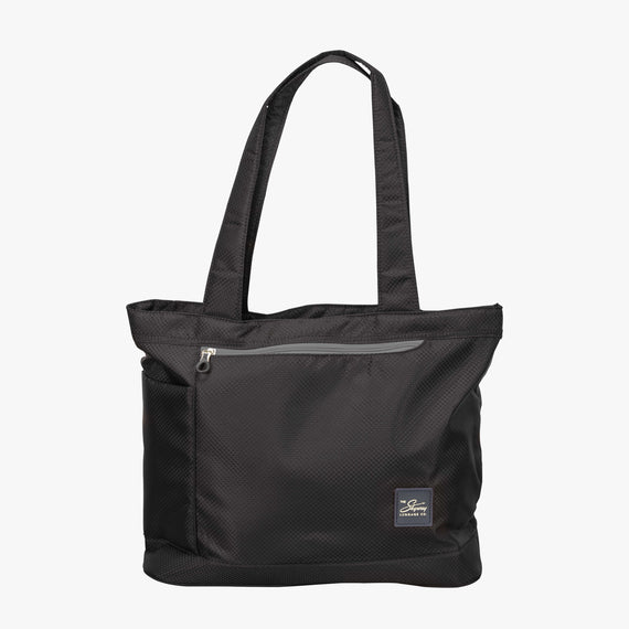Travel Tote Mirage 2.0 Tote in Black Front View in  in Color:Black in  in Description:Front