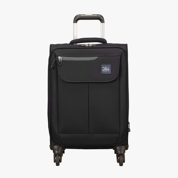 Carry-On Skyway Luggage 20-Inch Carry On Spinner Luggage in Black in  in Color:Black in  in Description:Front