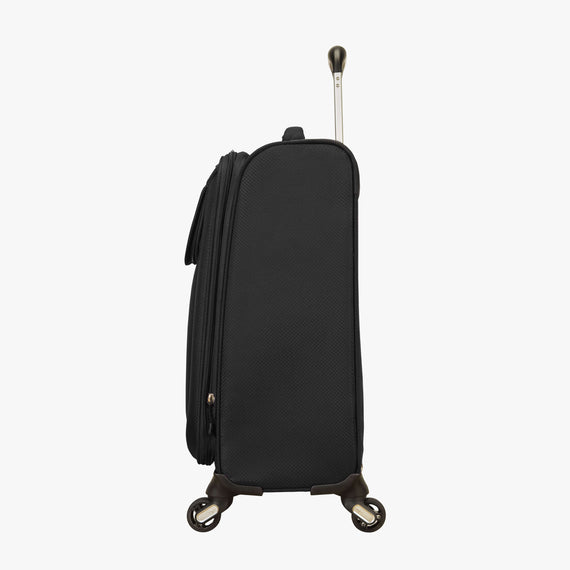 Carry-On Skyway Luggage 20-Inch Carry On Spinner Luggage in Black in  in Color:Black in  in Description:Side
