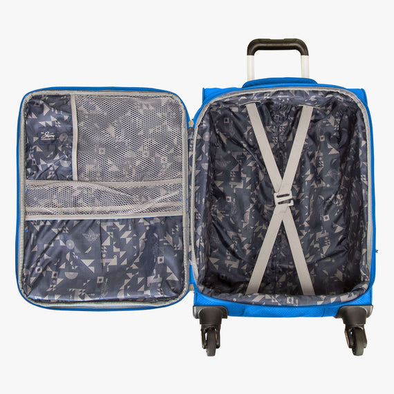 Carry-On Mirage 2.0 Carry-On in Blue Open View in  in Color:Blue Royal in  in Description:Opened